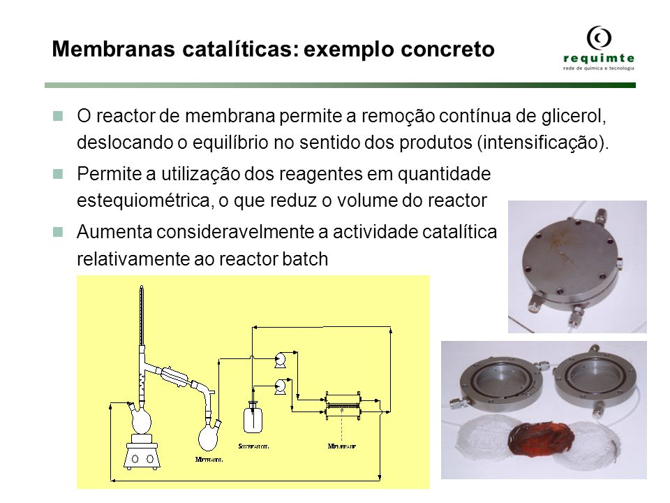Membranas catalíticas: exemplo concreto