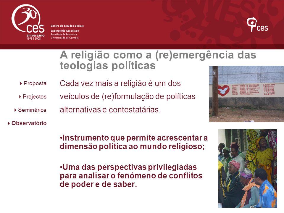 A religião como a (re)emergência das teologias políticas
