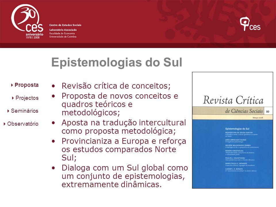 Epistemologias do Sul Revisão crítica de conceitos;