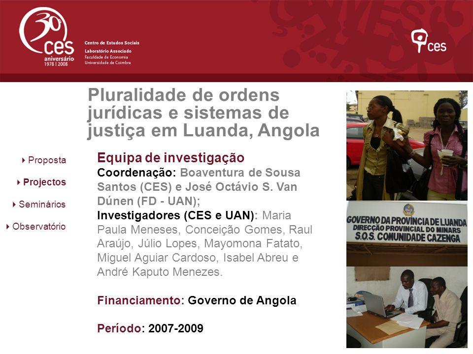 Pluralidade de ordens jurídicas e sistemas de justiça em Luanda, Angola