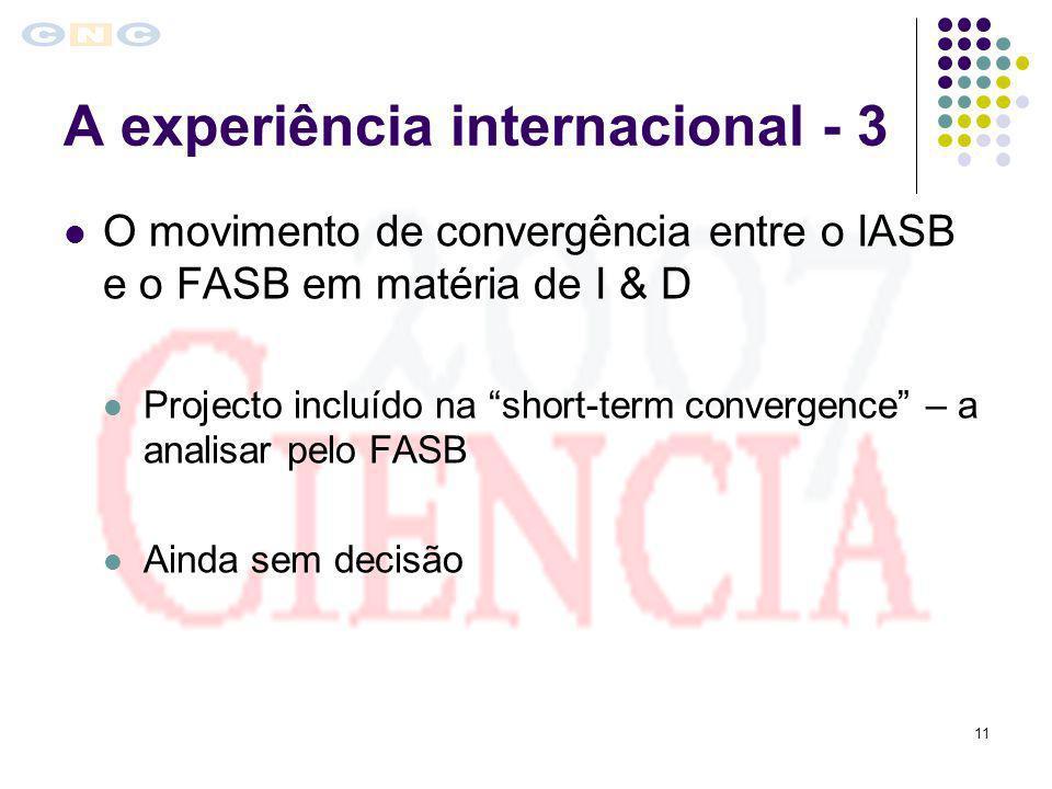 A experiência internacional - 3