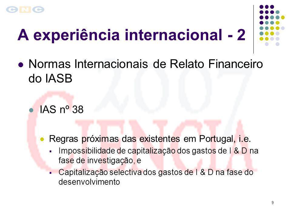 A experiência internacional - 2