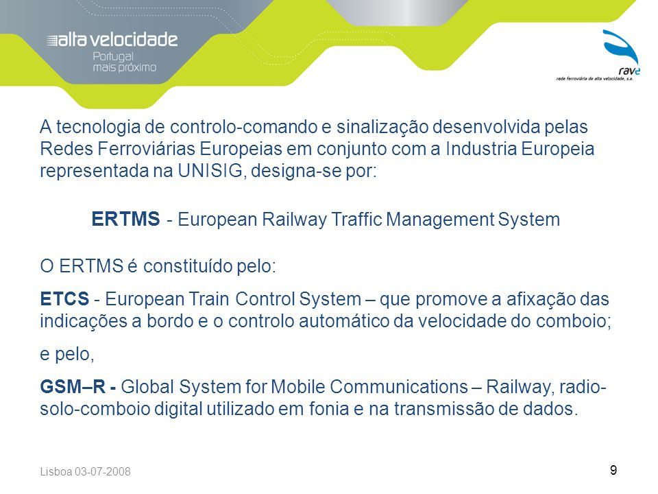 ERTMS - European Railway Traffic Management System