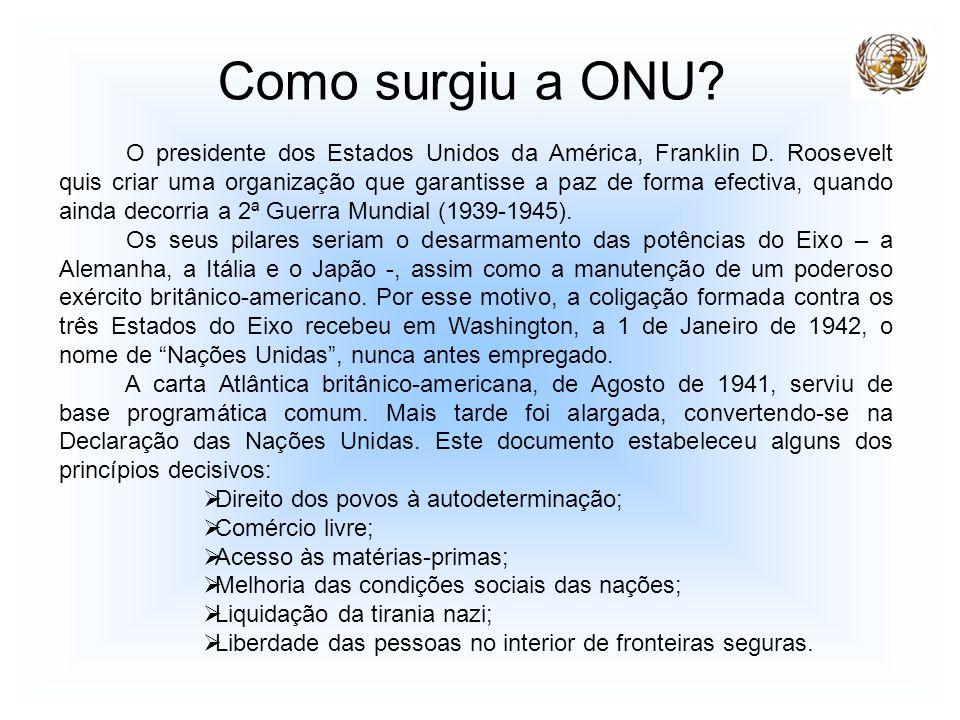 Como surgiu a ONU