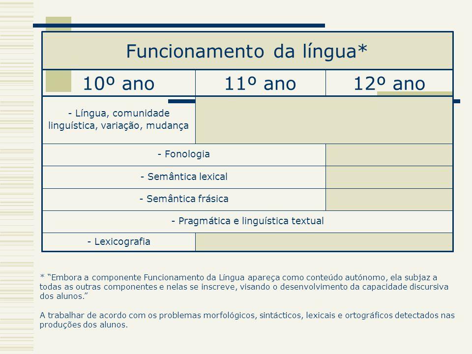 Funcionamento da língua*