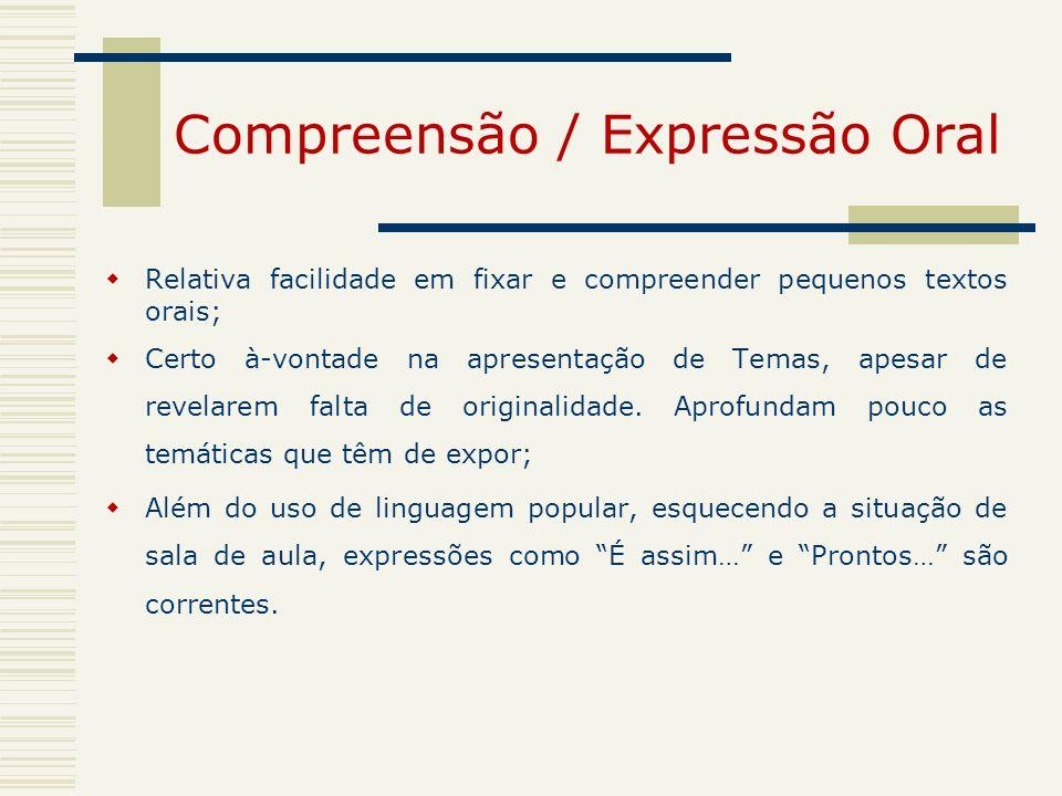 Compreensão / Expressão Oral