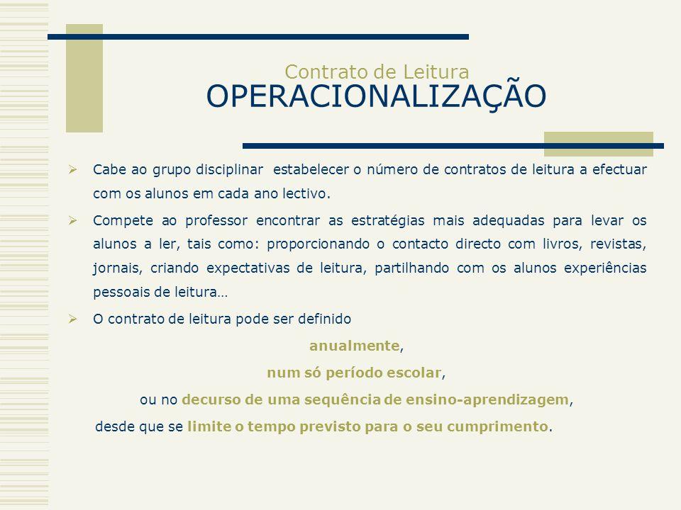 Contrato de Leitura OPERACIONALIZAÇÃO