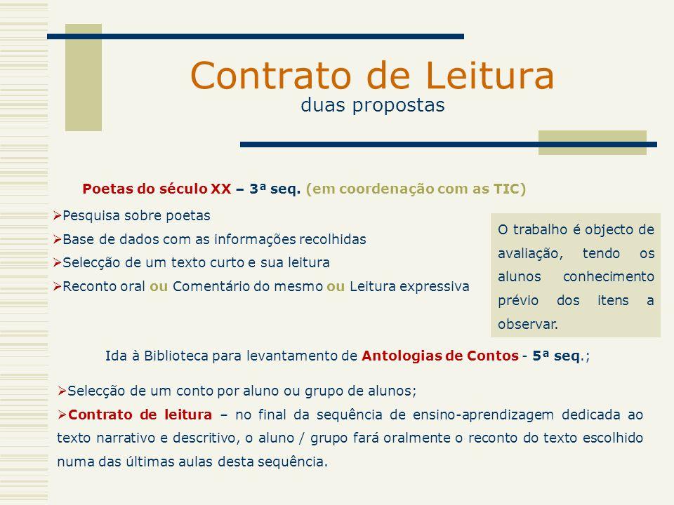 Contrato de Leitura duas propostas