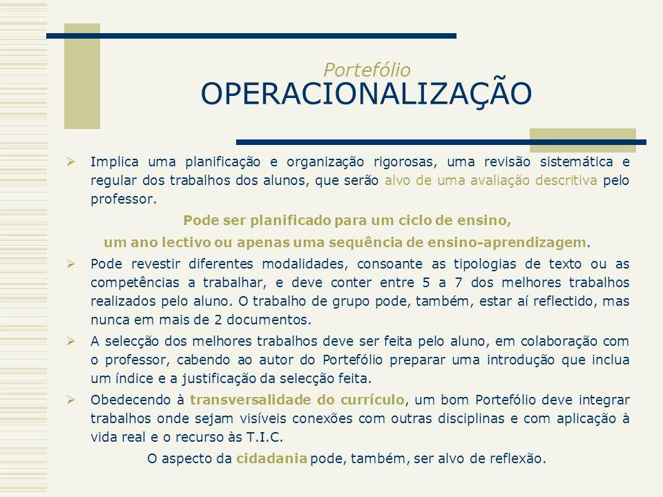 Portefólio OPERACIONALIZAÇÃO
