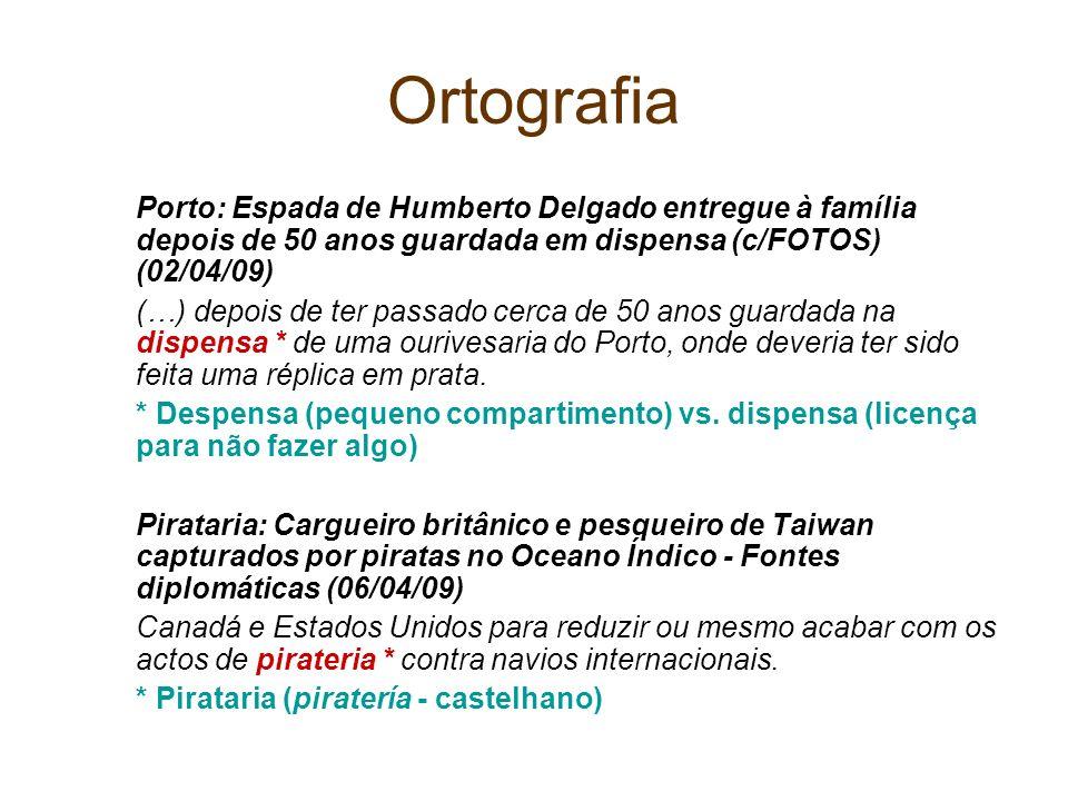 OrtografiaPorto: Espada de Humberto Delgado entregue à família depois de 50 anos guardada em dispensa (c/FOTOS) (02/04/09)
