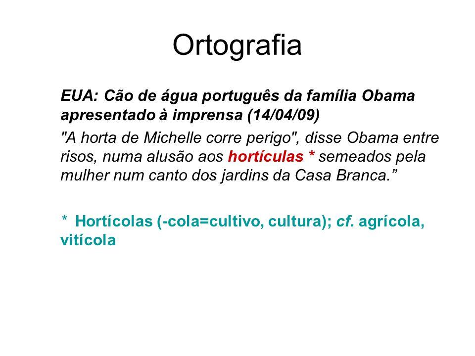 Ortografia EUA: Cão de água português da família Obama apresentado à imprensa (14/04/09)