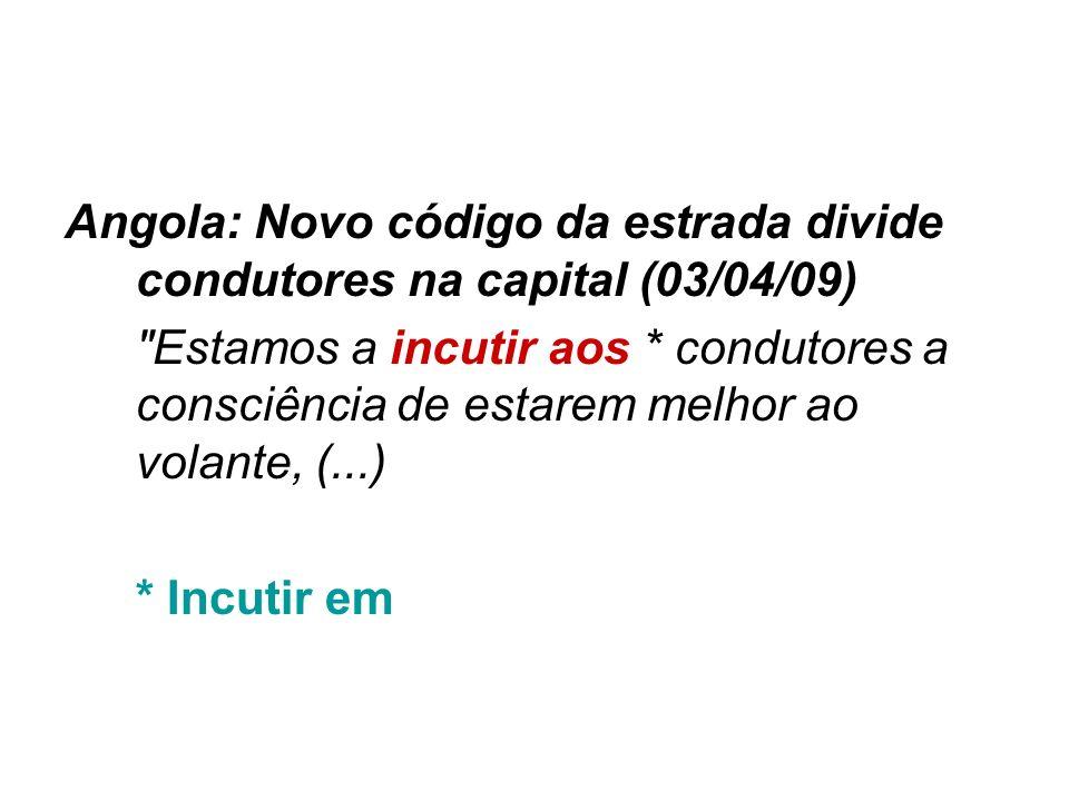 Angola: Novo código da estrada divide condutores na capital (03/04/09)