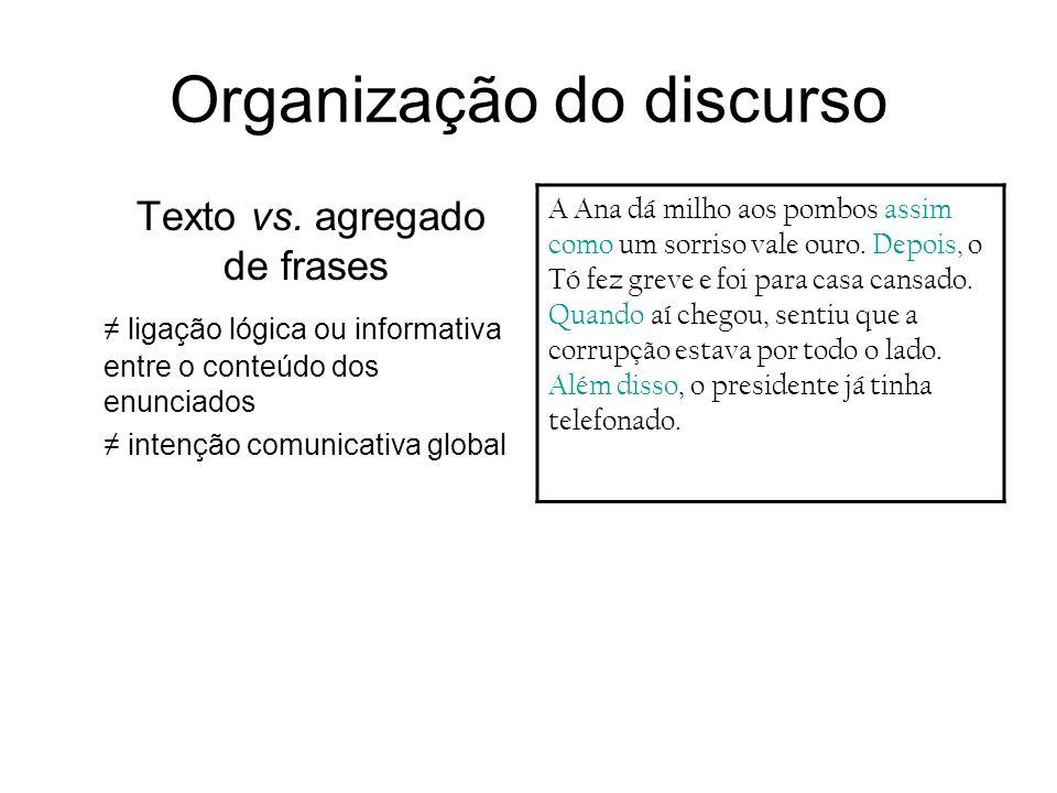 Organização do discurso