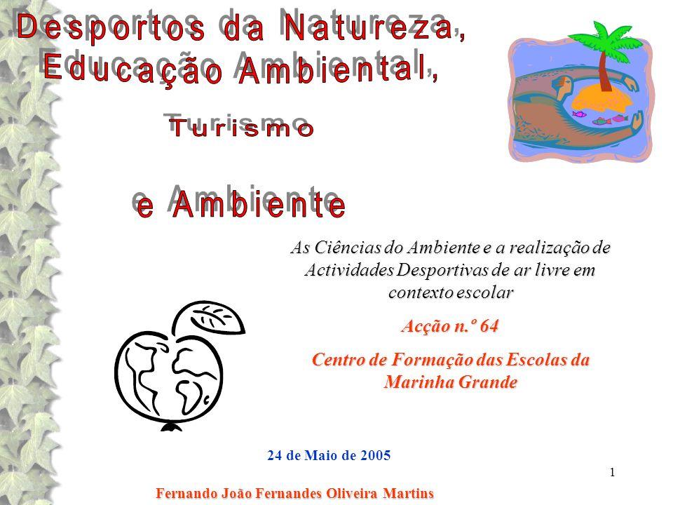 Desportos da Natureza, Educação Ambiental, Turismo e Ambiente