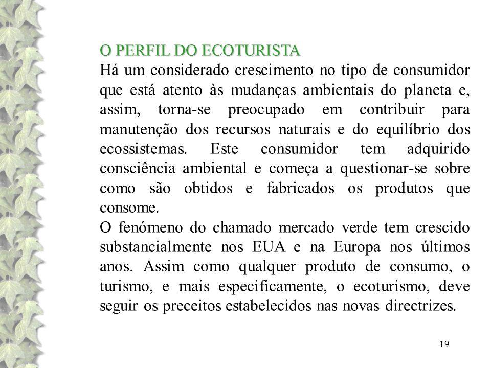 O PERFIL DO ECOTURISTA