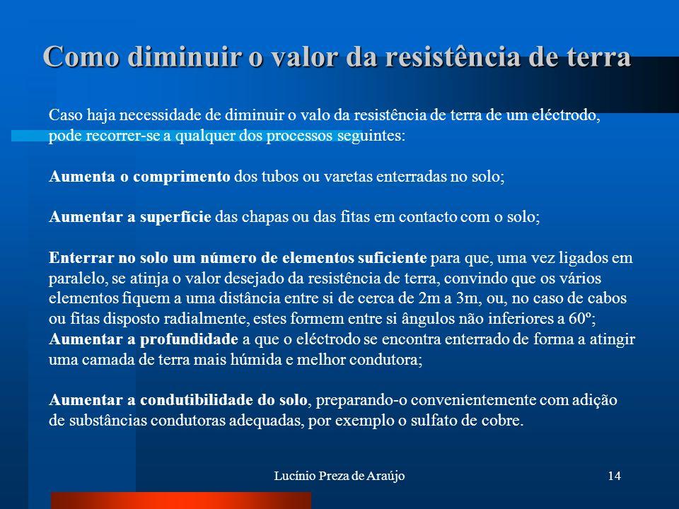 Como diminuir o valor da resistência de terra