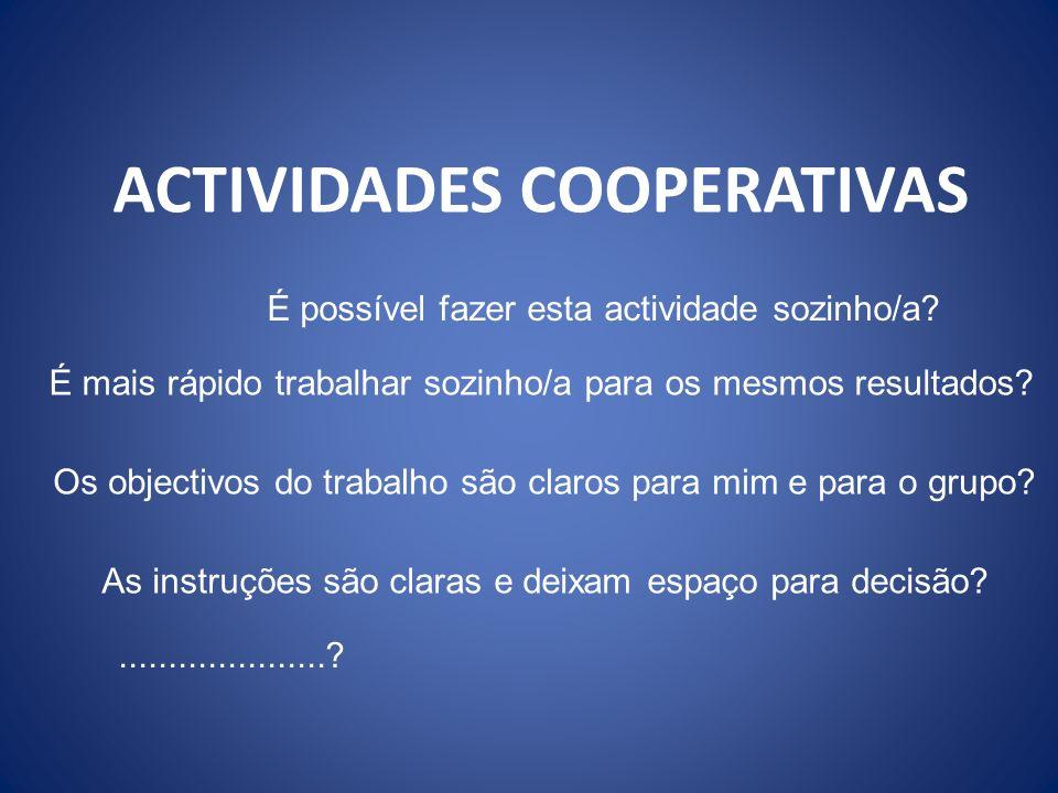 ACTIVIDADES COOPERATIVAS