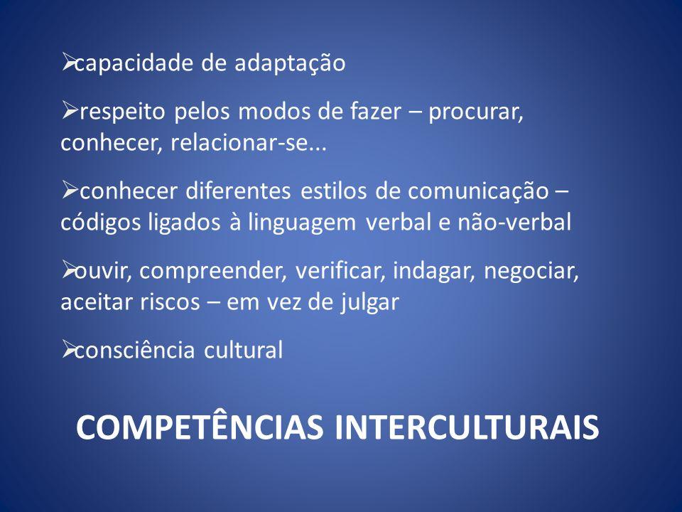 COMPETÊNCIAS INTERCULTURAIS