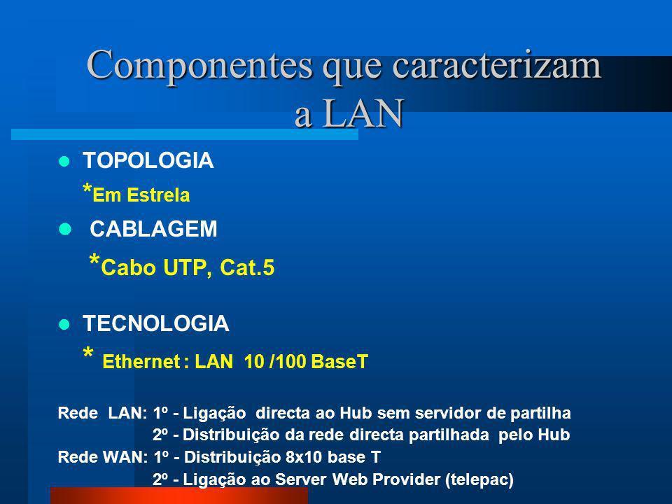 Componentes que caracterizam a LAN