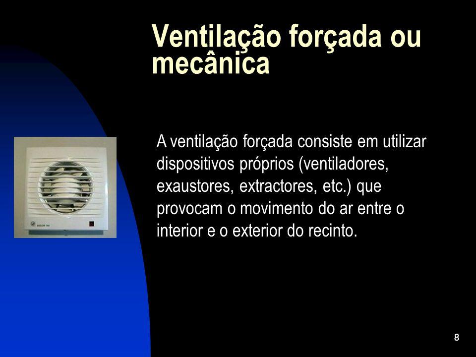 Ventilação forçada ou mecânica