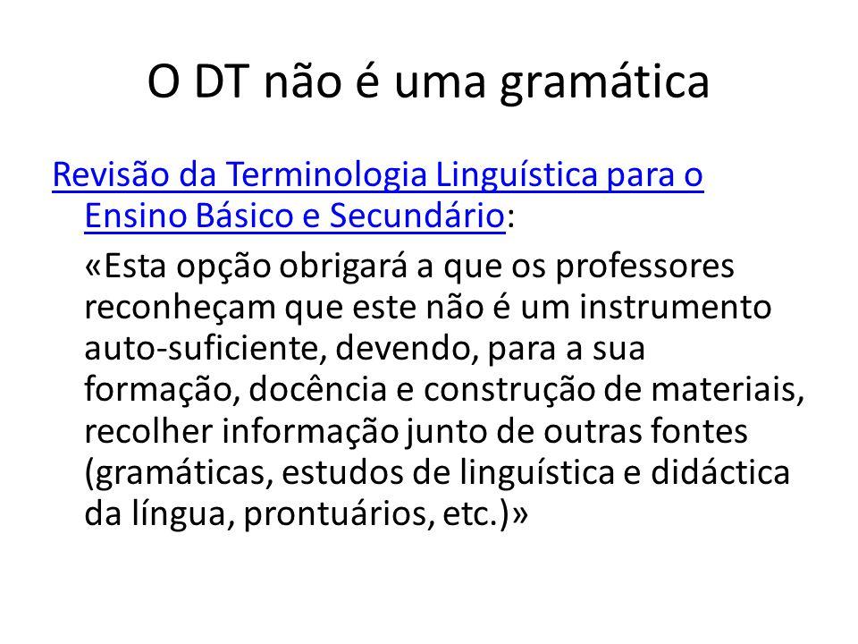 O DT não é uma gramática