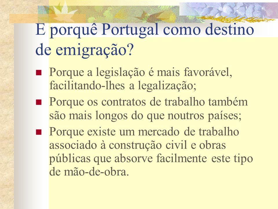 E porquê Portugal como destino de emigração