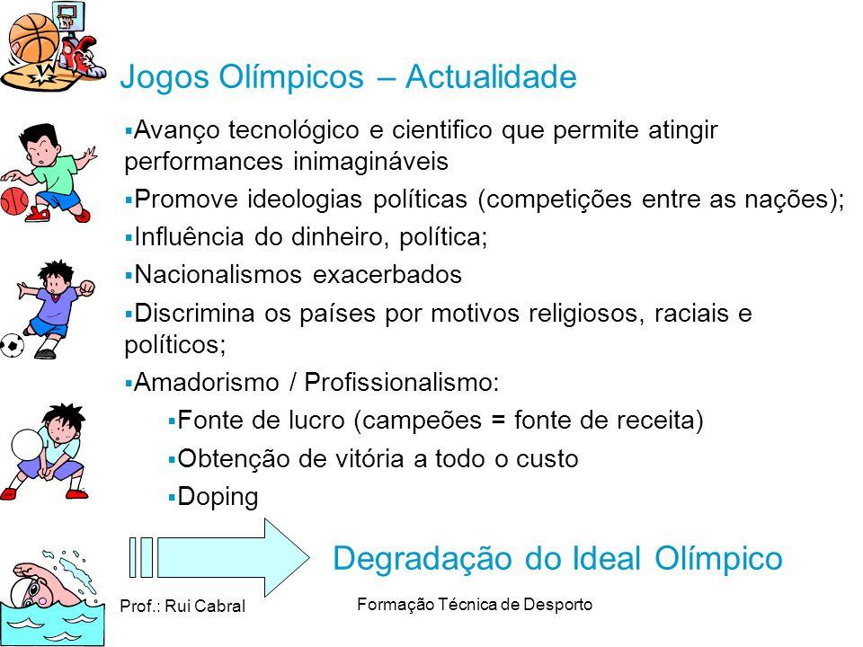 Jogos Olímpicos – Actualidade