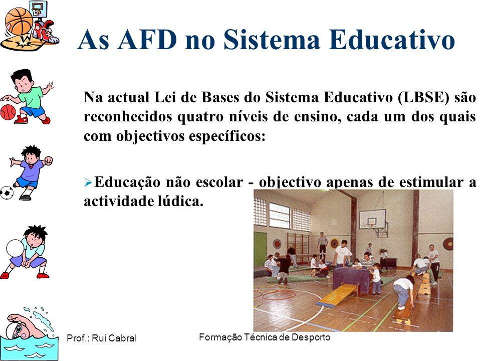 As AFD no Sistema Educativo