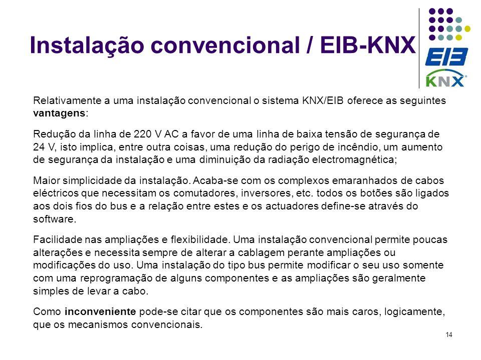 Instalação convencional / EIB-KNX