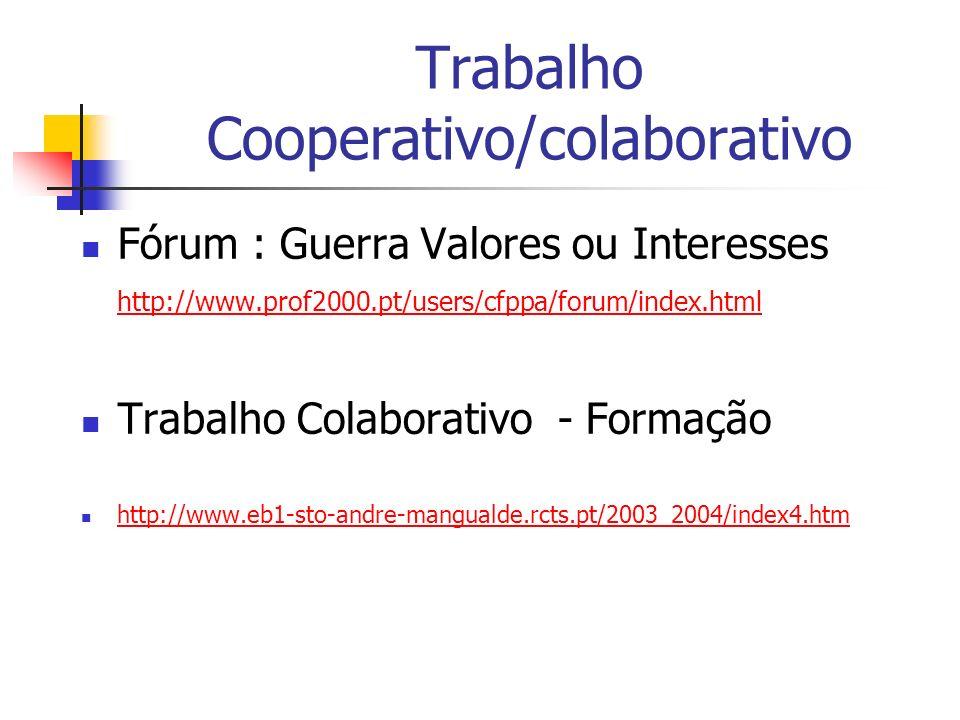 Trabalho Cooperativo/colaborativo