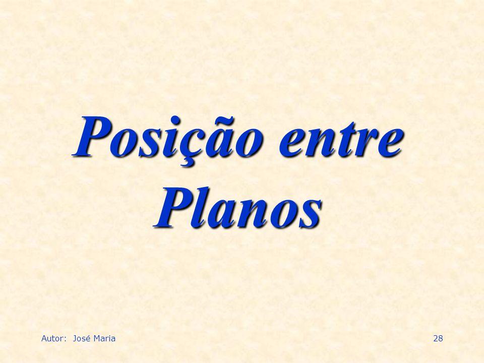 Posição entre Planos Autor: José Maria
