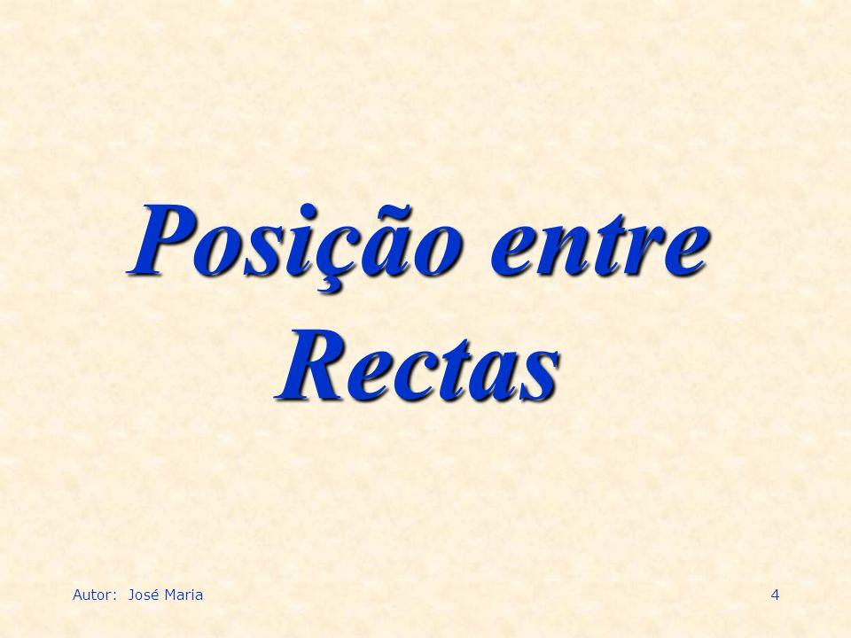 Posição entre Rectas Autor: José Maria