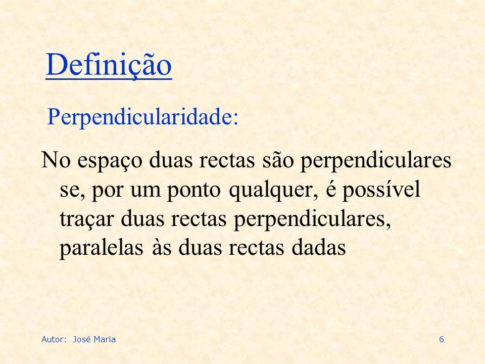 Definição Perpendicularidade: