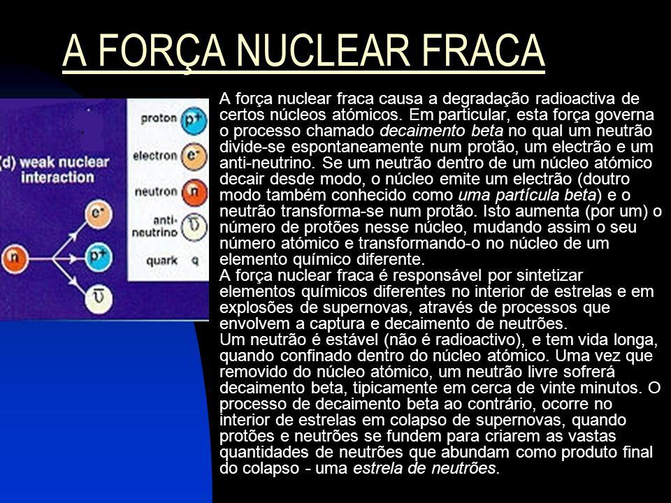 A FORÇA NUCLEAR FRACA