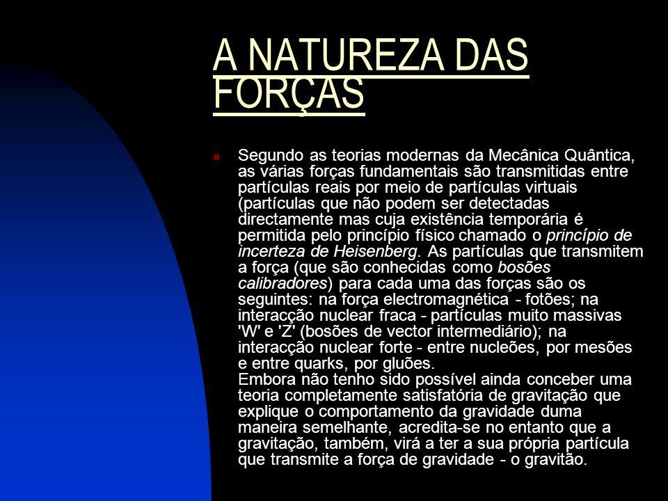 A NATUREZA DAS FORÇAS