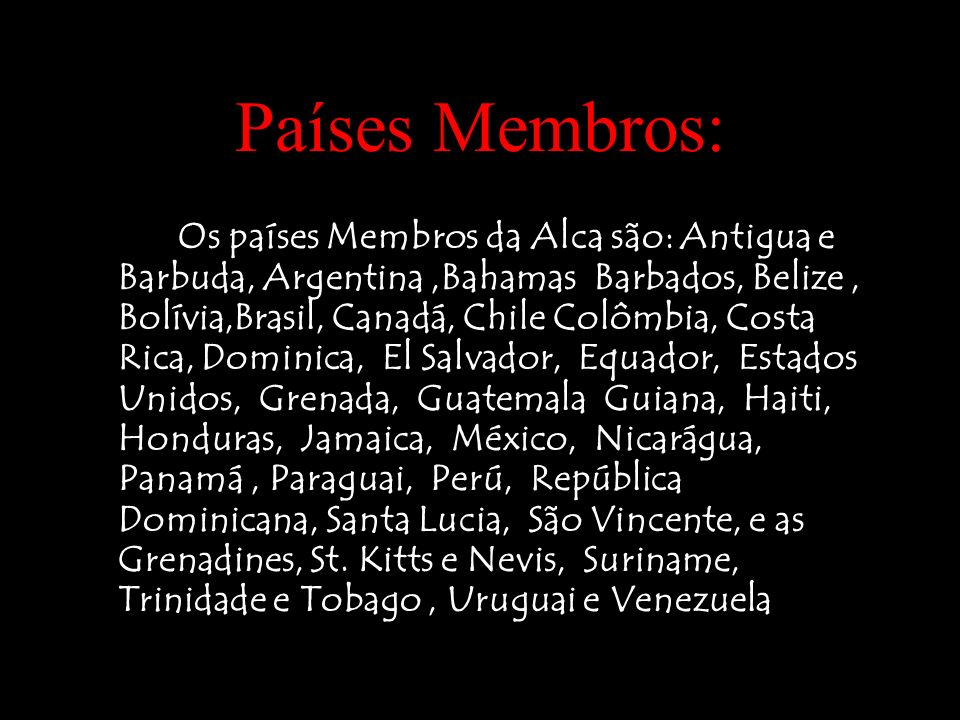 Países Membros: