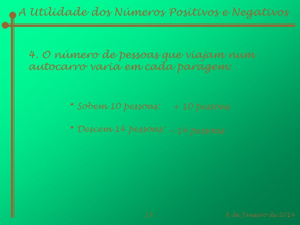 A Utilidade dos Números Positivos e Negativos