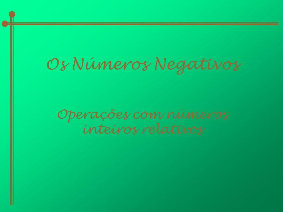 Operações com números inteiros relativos