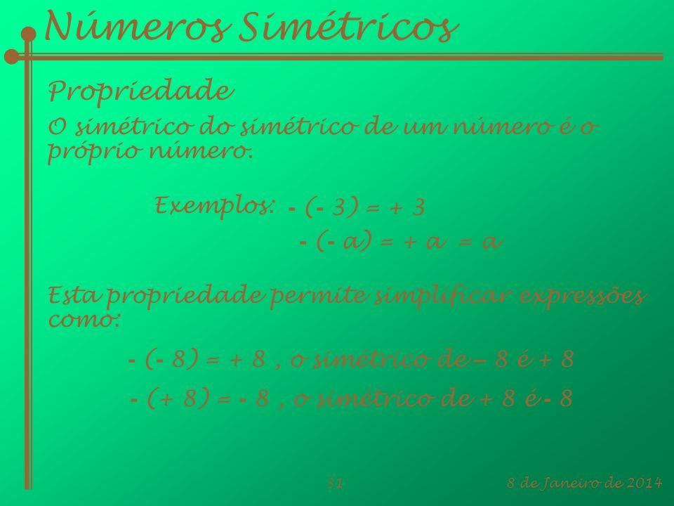 Números Simétricos Propriedade