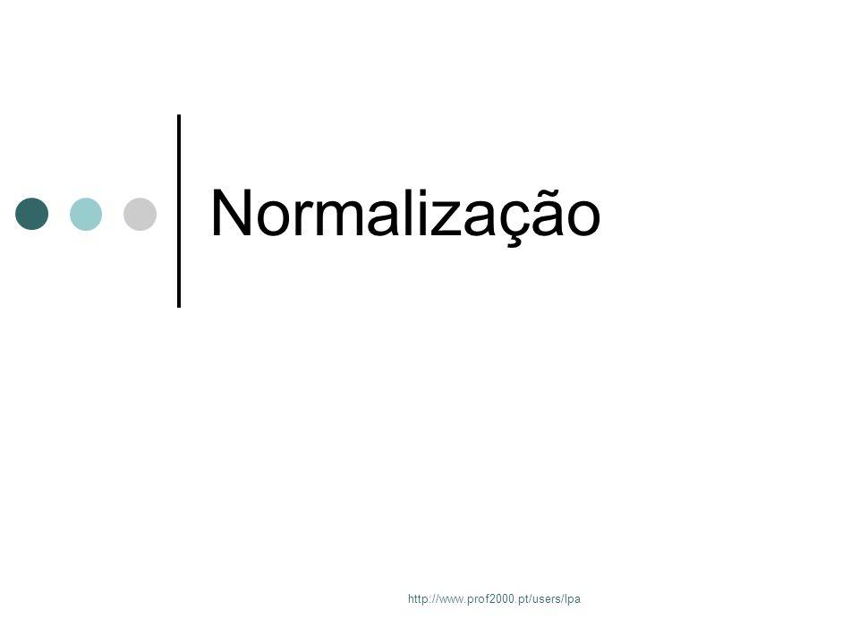 Normalização http://www.prof2000.pt/users/lpa