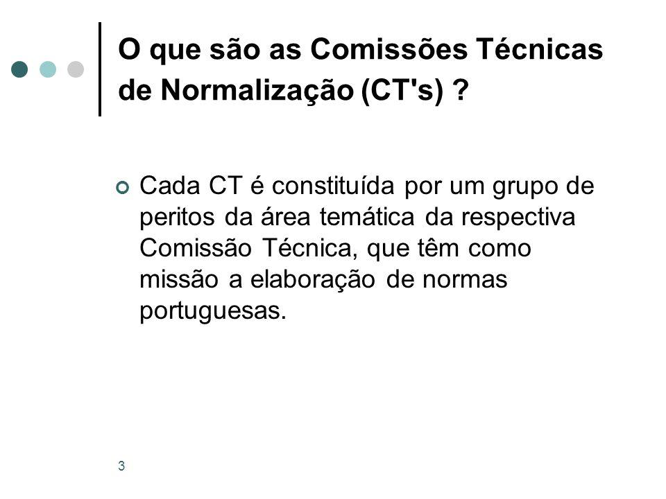 O que são as Comissões Técnicas de Normalização (CT s)
