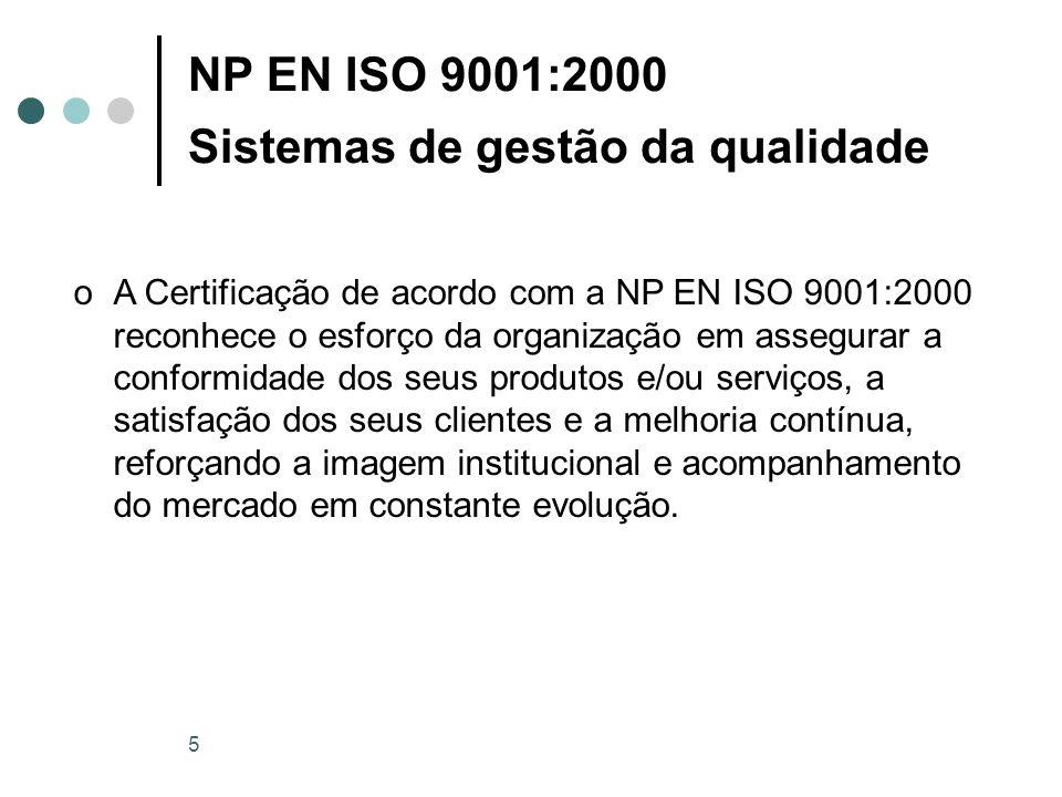 NP EN ISO 9001:2000 Sistemas de gestão da qualidade