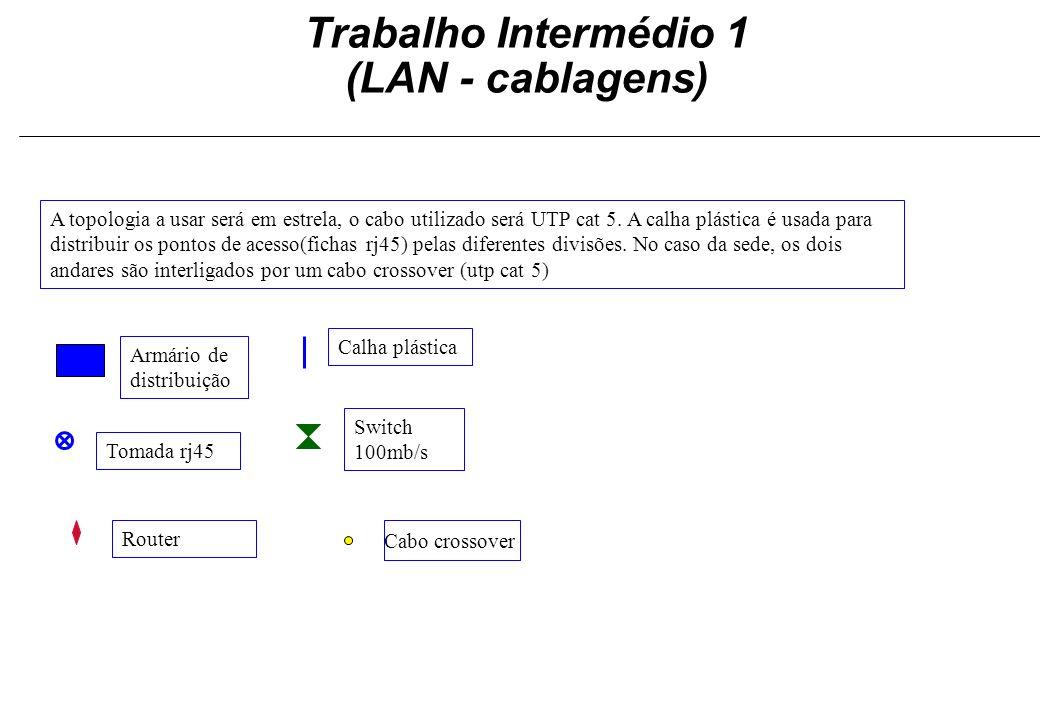 Trabalho Intermédio 1 (LAN - cablagens)