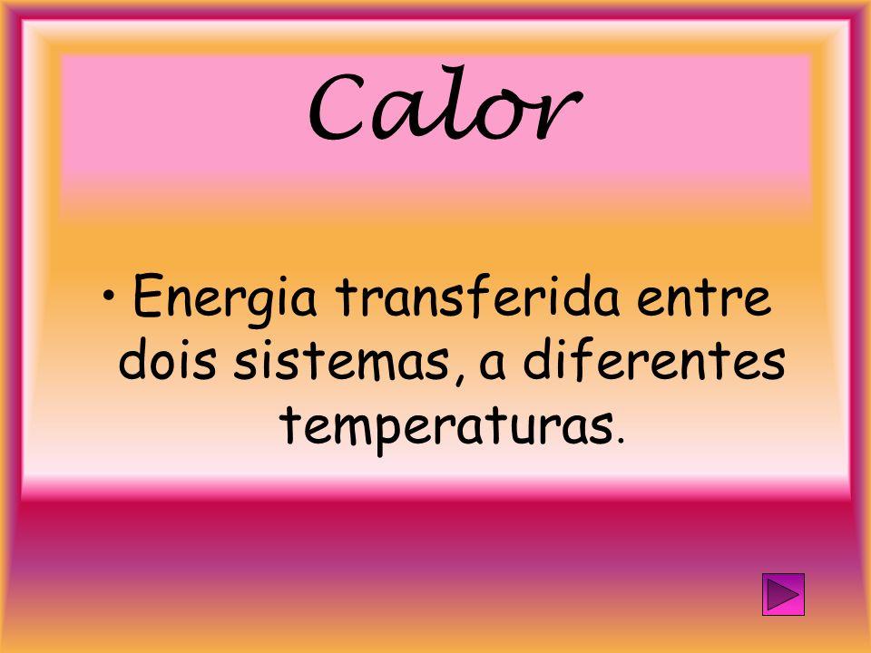 Energia transferida entre dois sistemas, a diferentes temperaturas.