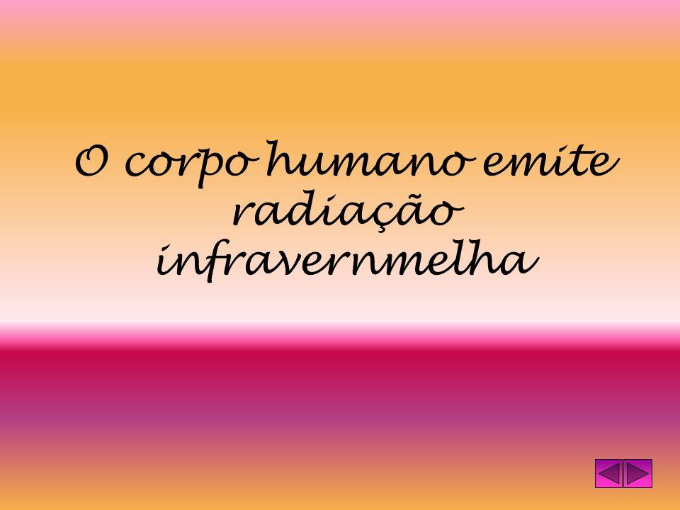 O corpo humano emite radiação infravernmelha