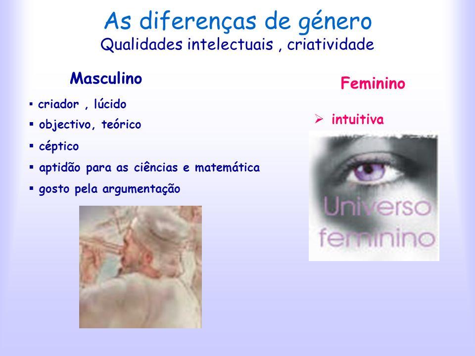 As diferenças de género Qualidades intelectuais , criatividade