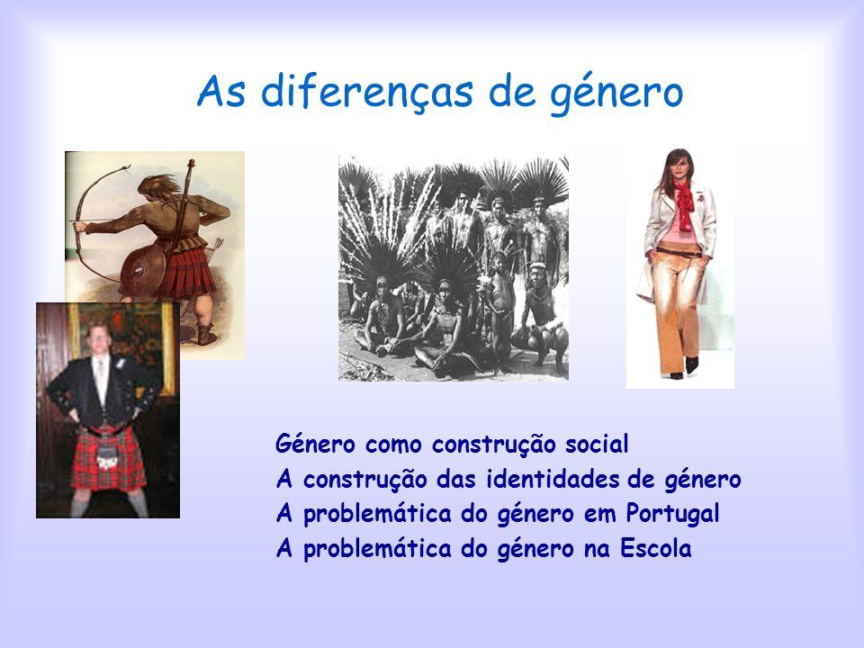 As diferenças de género