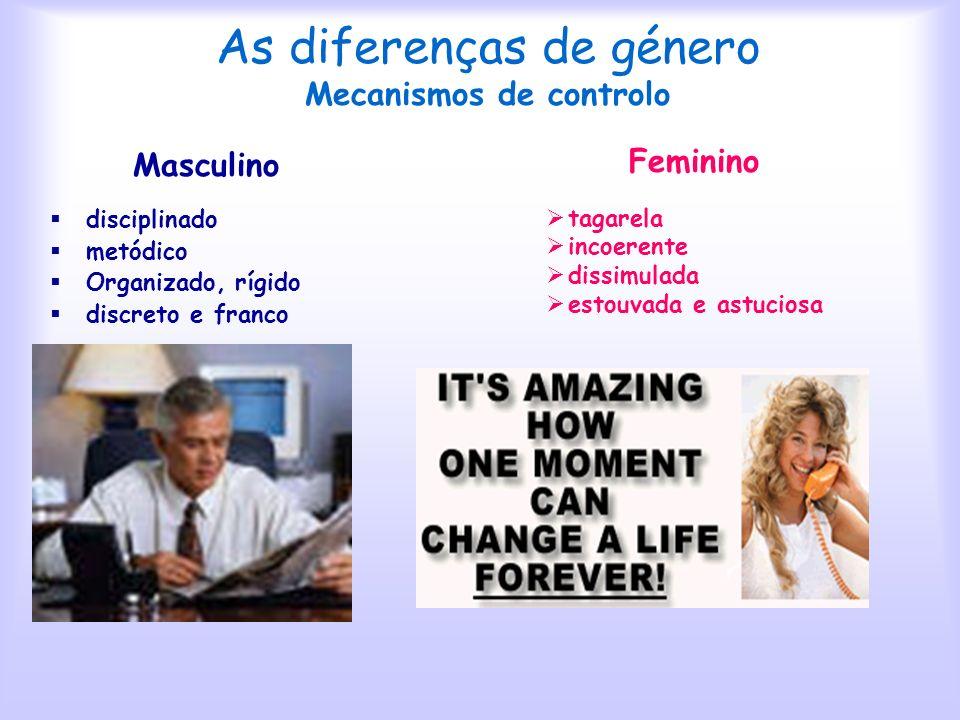 As diferenças de género Mecanismos de controlo