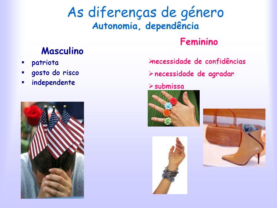 As diferenças de género Autonomia, dependência