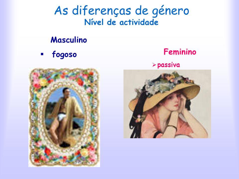As diferenças de género Nível de actividade